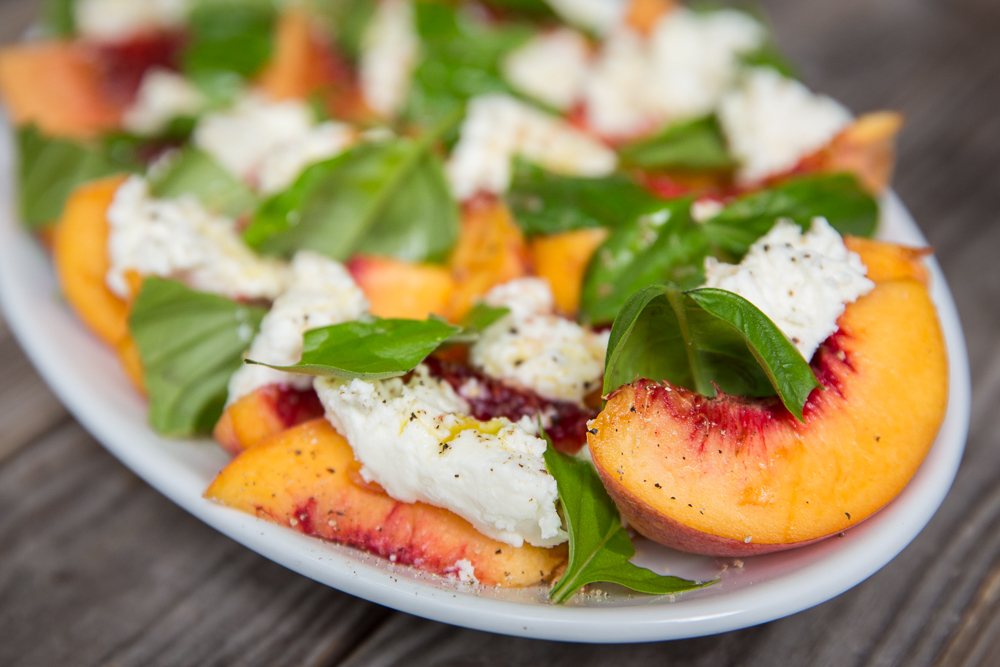 Saporito Oil, Vinegar, Spice, Fall Recipe Contest Peach Caprese